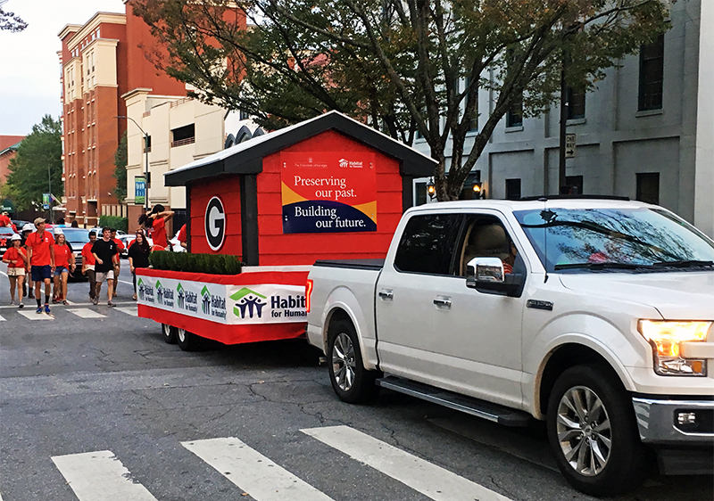 UGA Habitat's 2018 Homecoming float
