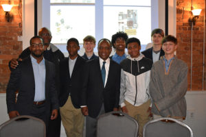 Michael Thurmond with a group of boys at AAHFH Gala